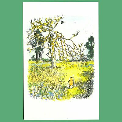 £0.99 • Buy Postcard - Winnie-The-Pooh Taking A Walk In The Hundred Acre Wood