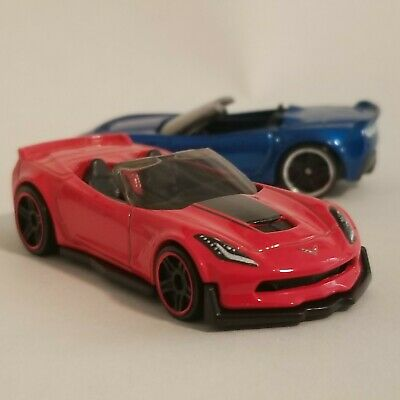 $1.99 • Buy Chevy Corvette C7 Z06 Convertible Lot Of 2 Loose 1:64 Diecast Hot Wheels