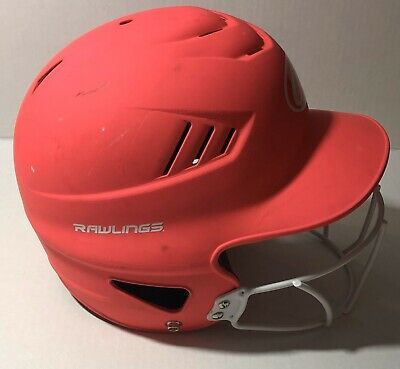 $15.30 • Buy Girl's Youth Pink Softball Helmet With Mask Rawlings Pre Owned 6 1/2  - 7 1/2