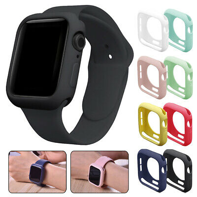 $ CDN3.52 • Buy For Apple Watch Series 5 4 3 2 Silicone Bumper Case Cover IWatch Protector 40/44
