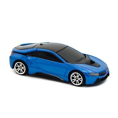 $9.99 • Buy 2018 BMW I8 Coupe Electric Blue Motor Max 6218 1:64 3  Inch Toy Car