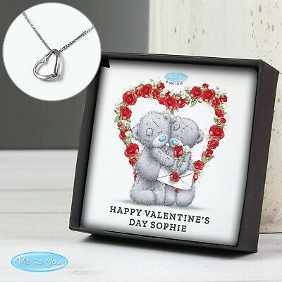 Personalised Me To You Sentiment Heart Necklace And Box - Birthday, Valentine's • 14.99£