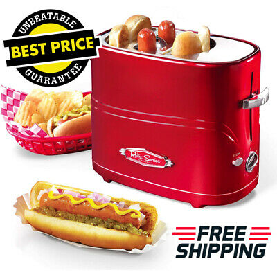 $42.63 • Buy Nostalgia Retro Red Toaster Pop-Up Hot Dog & Bun With Mini Tongs Fast Meal [NEW]