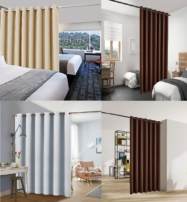 $24 • Buy Room/space Divider Panel Grommet Window Curtain Thermal Blackout 8' Ft X 7'ft