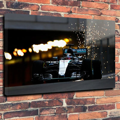 £29.99 • Buy F1 Lewis Hamilton Printed Canvas Picture Multiple Sizes 30mm Deep