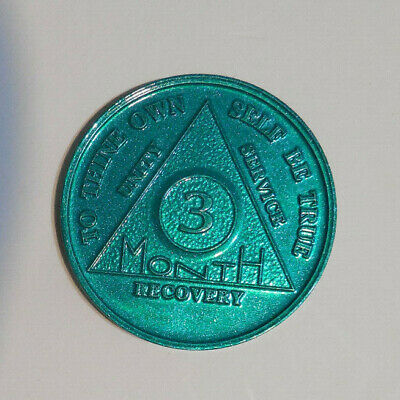$2.30 • Buy Aa Aluminum Alcoholics Anonymous 3 Month Sobriety Chip Coin Token Medallion