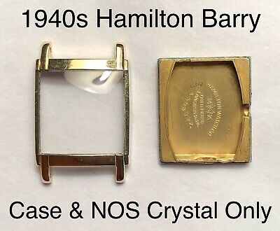 $ CDN52.56 • Buy Vintage 1940s Hamilton Barry 14K Gold Filled Watch Case & NOS Crystal Parts Lot