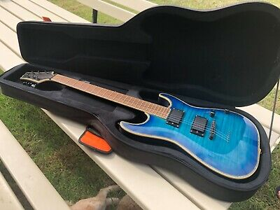 AU199 • Buy Electric Guitar, Blue, Custom Made One Piece + Hardcase.
