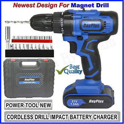 View Details 21-Volt Drill 2 Speed Electric Cordless Drill / Driver With Bits Set / Battery • 56.23$