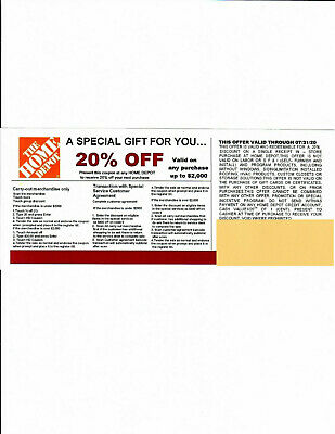 $0.99 • Buy *(1)**** 20% OFF HOME DEPOT*Competitors* Coupon To Use At Lowe's Expire 07/31/20
