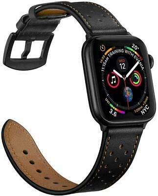 £9.99 • Buy For Apple Watch Series SE 3/4/5/6 38/40/42/44mm Strap Genuine Leather Wrist Band