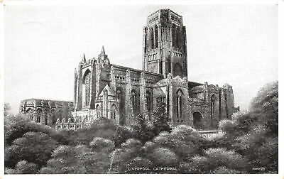 £6.75 • Buy R236316 Liverpool Cathedral. Valentines. Silveresque Postcards. 1944