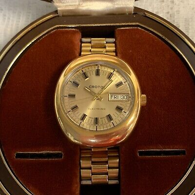$ CDN155.21 • Buy Vintage Swiss Croton Electronic Watch With Box MINT