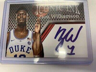 $2.99 • Buy Zion Williamson NM Iconic Ink Rookie Card Facsimile Autograph - Free Shipping!