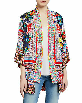 $189.99 • Buy $378 Johnny Was Bernie Silk Kimono Size Xl Floral Geo Print C46319a3nm