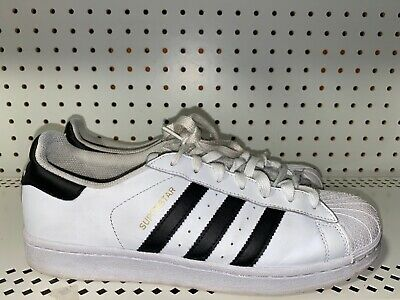 $ CDN52.17 • Buy Adidas Superstar Mens Leather Athletic Shoes Sneakers Size 9 White Black
