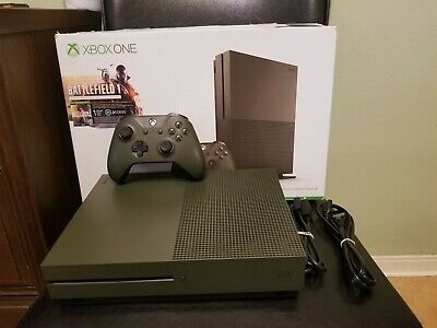 $179.99 • Buy Xbox One S Battlefield 1 SPECIAL Edition 1TB 4K Console BUNDLE GREEN MODEL 1681
