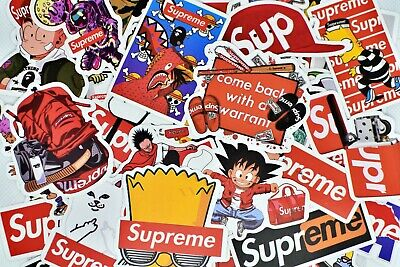 $7.99 • Buy 50 Supreme Stickers Hypebeast Stickers For Hydro Flask Laptop Skateboard Luggage