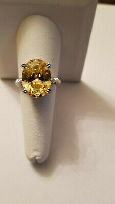 $89.99 • Buy Charles Winston CW Yellow CZ 925 Sterling Silver Ring Size 8.25