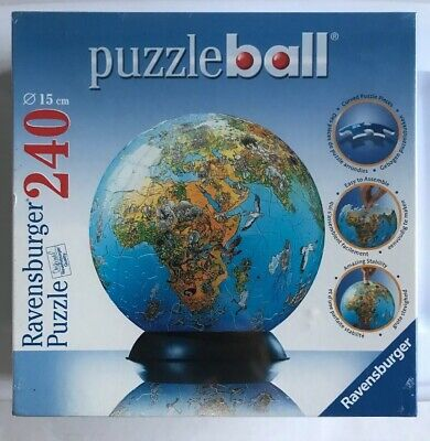 $18 • Buy Ravensburger Puzzle Ball Global World Map 240 Pieces W/Holder NEW SEALED 2005