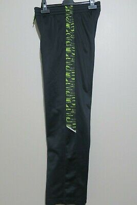 $5 • Buy Tek Gear Boys Black & Neon Stripe Athletic Performance Pants Size S (8)