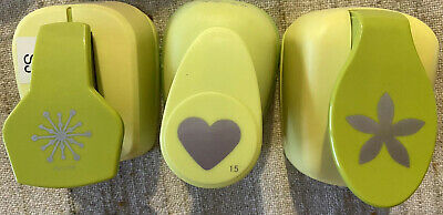 $0.99 • Buy McGill Lot Of 3 Lever Punches, Flower, Heart And Flower Center (or Snowflake)