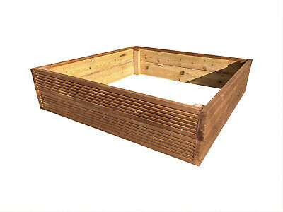 Square Decking Raised Garden Bed - Treated Timber - 9 Colours - Flat Pack • 38.95£
