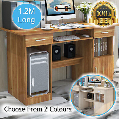 AU174.95 • Buy Computer Desk Home Study Office Drawer Cabinet Storage Shelf Table - 2 Colours