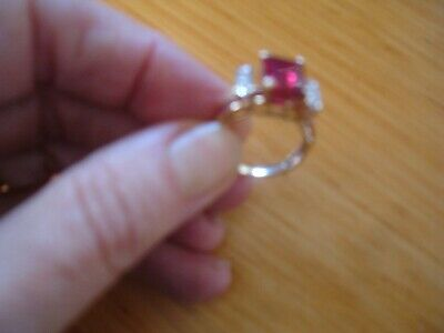 AU150 • Buy UNWANTED GIFT SOLID 10CT GOLD, DIAMOND & CREATIVE RUBY RING  Rrp $600