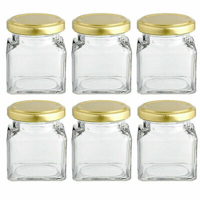 Small Glass Jars With Lids 100 Ml X 6 • 9.99£