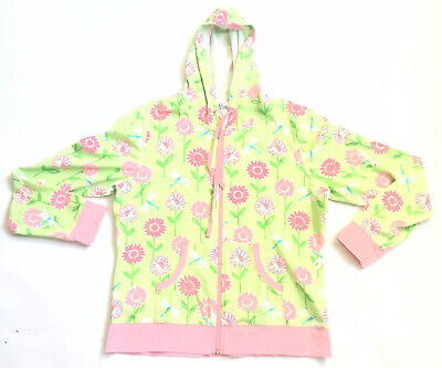 $0.99 • Buy Lilly Pulitzer Floral Hoodie Size Large Classic Print Front Zip Dragonfly