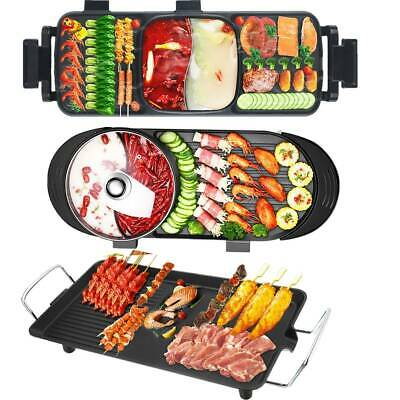 AU125.60 • Buy AU Electric 2 In 1 Hotpot BBQ Oven Smokeless Barbecue Pan Grill Machine 3 Style