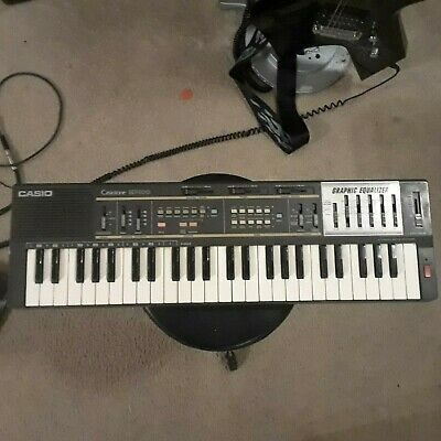 $50 • Buy Vintage Casio Casiotone MT-100 Graphic Equalizer Synthesizer Electronic Keyboard