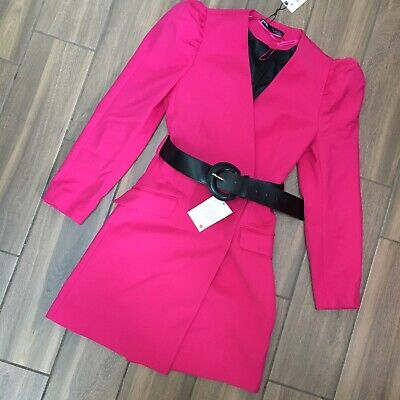 $39.35 • Buy Zara Fuchsia Pink Blazer Dress With Belt Size XS Or S