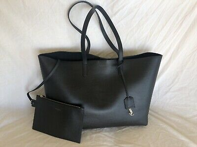 AU750 • Buy YSL Black Leather Shopper Tote Bag