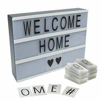 £9.95 • Buy New A4 Light Up Letter Box Cinematic Led Sign Party Wedding Plaque Shop Cinema