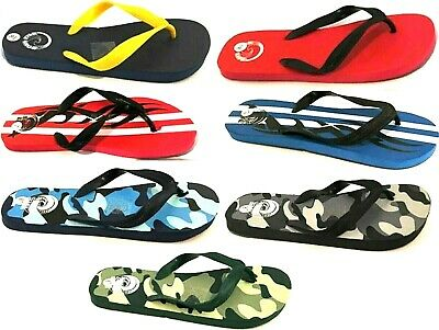 Mens Summer Flip Flops Slip On Beach Sandals Mules Holiday Shower Shoes Size • 2.99£