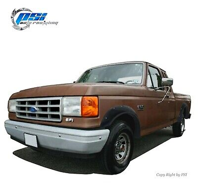 AU317.56 • Buy Textured Pocket Fender Flares Fits Ford F-150 F-250 F-350 Bronco 1987-1991