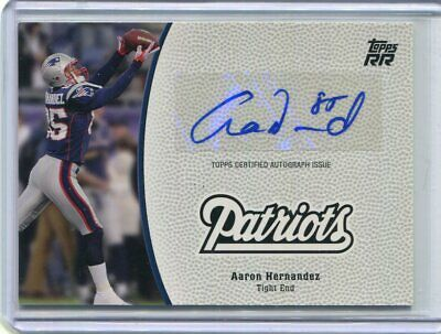 $16.50 • Buy Aaron Hernandez Autograph W/Jersey # Topps RR  (2nd Yr) .66 Shipping At Ur RISK
