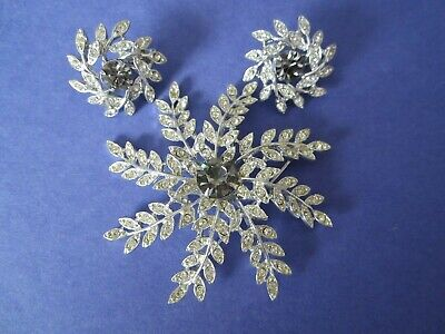 $10 • Buy Sarah Coventry Evening Snowflake Brooch & Earring Set  Nos