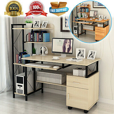 AU241.36 • Buy Multi-Function Office Computer Desk Workstation Deluxe Large Table - 2 Colours