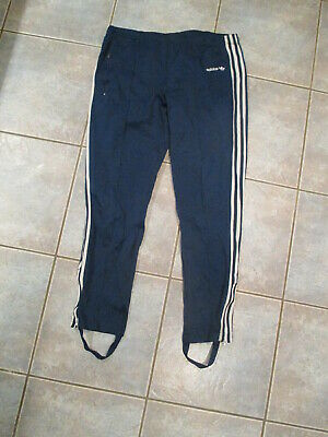 $ CDN25 • Buy Vintage Adidas Track Pants Size Medium Stirups Blue 3 Stripes