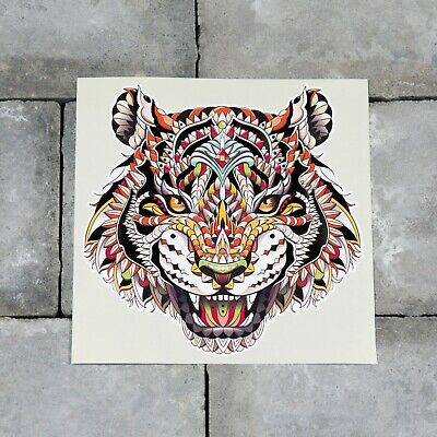 £2.99 • Buy Stained Glass Style Tiger Vinyl Sticker Decal Wall Car Van  - SKU6496