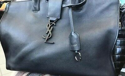 AU1000 • Buy Yves Saint Laurent  Cabas Tote Black Bag YSL