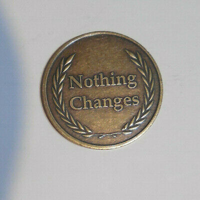 $3.80 • Buy Aa Alcoholics Anonymous Bronze IF NOTHING CHANGES Recovery Sobriety Coin Token