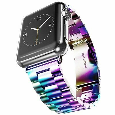 $ CDN2.62 • Buy Watch Band For Apple IWatch Series 5/4 44mm 3 2 1 40mm Stainless Steel Strap