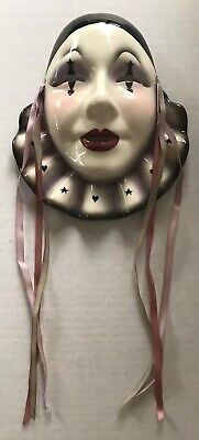$ CDN52.90 • Buy Vintage Ceramic Wall Mask Clown With Collar Clay Art San Francisco About Face