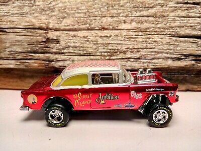 $48 • Buy Hot Wheels 1/64 Stunning 55 Chevy Custom Gasser Spectra Flame  AMBITION  R/R