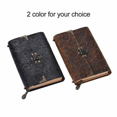 AU40.18 • Buy Notebook With Lock And Key Secret  Leather Diary Girls Lockable Padlock Gift NEW