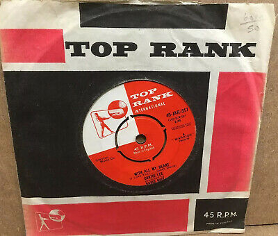 """Curtis Lee - With All My Heart (I Love You) 7"""" Single - Top Rank 1959 • 60£"""
